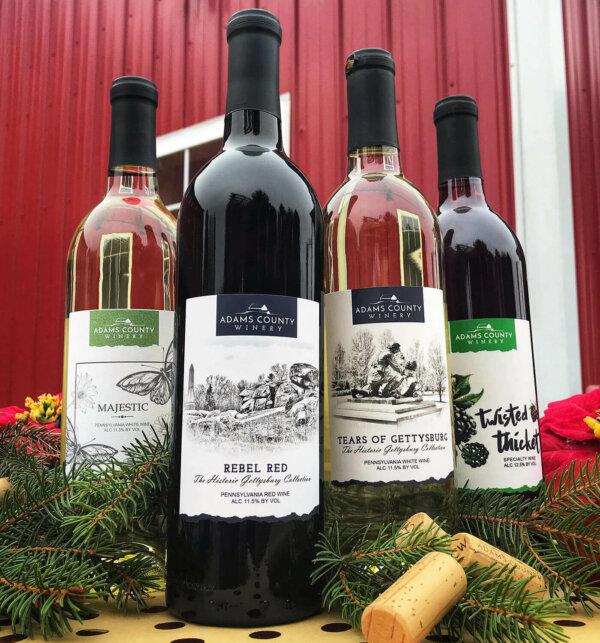 four bottles of wine
